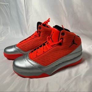 Jordan 2013 Mens Shoes Orange Metallic Silver